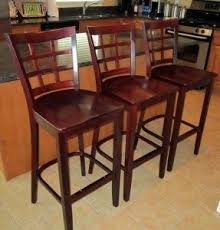 cherry bar stools. 3 Cherry Wood Bar Stools D