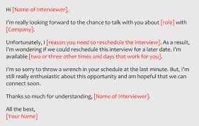 rescheduling an interview best sample email to reschedule interview from employer