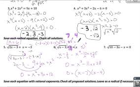 radical equations rational exponents