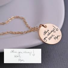 custom handwriting necklace gold handwriting jewelry personalized gift for