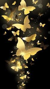 Flying Golden Butterflies Lockscreen Iphone 6 Plus Hd