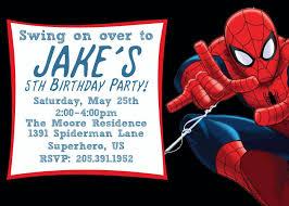 Spiderman Birthday Invitation Templates Free Free Printable Spiderman Birthday Invitation Templates In