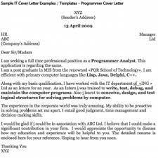 cover letter cover letter analyst cover letter analyst programmer     LiveCareer Sample Cover Letter For A Programmer