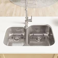 René Stainless Steel 32 L X 21 W Double Basin Undermount Kitchen