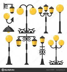 Vintage Outdoor Light Posts Vintage Streetlights Set Black Outdoor Light Posts Street