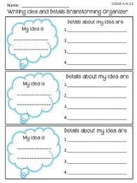 bie writing traits ideas and details brainstorming 6 1 writing traits ideas and details brainstorming graphic organizer
