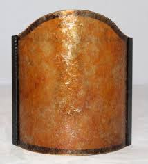 mica sconce shield half shade available any size in amber or silver mica