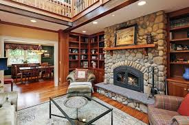 furniture for craftsman style home. this luxurious lodge living room centers on a massive stone fireplace flanked by full height furniture for craftsman style home s