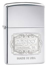 <b>Зажигалка</b> Classic <b>High Polish Chrome</b> (серебристая) от Zippo ...