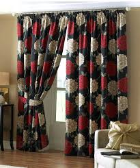 Kitchen Red And Black Curtains Cream