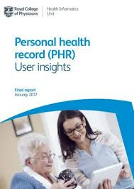 Personal Health Record Phr User Insights Rcp London