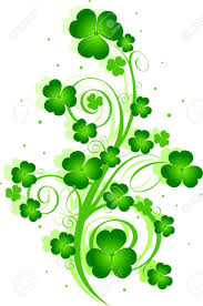 St Patrick S Day Designs Decorative Swirling St Patricks Day Design With Clover