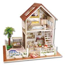 cheap doll houses with furniture. Home Decoration Crafts DIY Doll House Wooden Houses Miniature Dollhouse Furniture Kit Room LED Lights Gift A 025-in From Toys \u0026 Hobbies Cheap With H