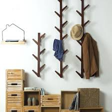coat hook shelf 6 hooks vintage bamboo wooden hanging coat hook hanger branch shape clothes racks coat hook