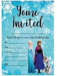Frozen Birthday Invitations Details About Frozen Birthday Party Invitations Disney Princess Anna And Elsa Children Girls