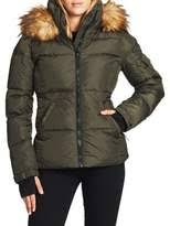 S13 Coat Size Chart Faux Fur Trim Hood Matte Puffer Coat