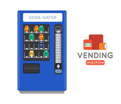 Vending Machines With Credit Card For Sale Interesting Vending Machine Vector Set Sell Snacks And Soda Drinks Vending