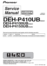 pioneer deh p4800mp wiring diagram pioneer automotive wiring pioneer deh p410ub cd receiver service manual 1