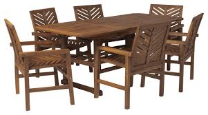 7 piece extendable outdoor patio dining