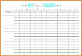 Excel Payment Tracker Template Monthly Bill Tracker Template