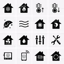 air conditioning icon vector. heating and cooling icons. hvac royalty-free stock vector art air conditioning icon n