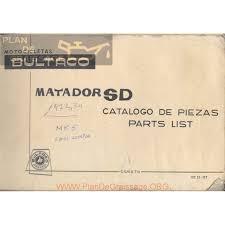 Bultaco Matador Sd Mod 82 Y 107 Despiece Plan De Graissage