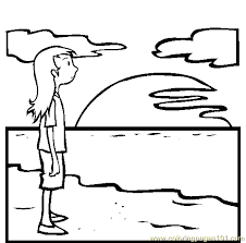 Small Picture Sunset Coloring Page Free Seas and Oceans Coloring Pages