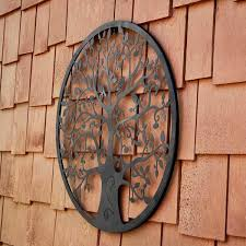 Happy gardens outdoor wall decor for your patio or garden. Southern Patio 24 In Dia Tree Of Life Metal Wall Outdoor Decor Wdc 054603 The Home Depot