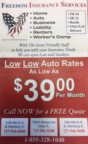 freedom insurance get quote auto insurance 1340 n missouri ave n largo fl phone number yelp