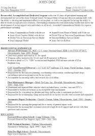 Army Resume Builder – Resume Sample Bank