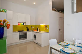 Yellow Kitchen White Cabinets Grey Kitchen Cabinets And Yellow Walls Quicuacom
