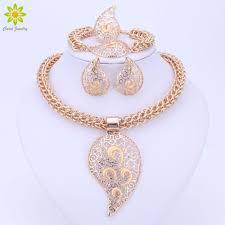 whole gold color jewelry set costume design big pendant necklace set bridal gift nigerian wedding african beads jewelry designer jewelry mens diamond
