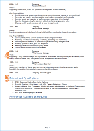 example of good cv layout example of a good cv