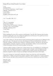 Primary Teacher Cover Letter Sample Cover Letter For Elementary Teaching Position School Teacher