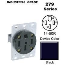 leviton 279 50 amp flush mount receptacle 125 250v 14 50r 3p4w leviton 279 50 amp flush mount receptacle 125 250v 14 50r