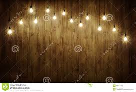 Wood With Lights Light Bulbs On Wood Stock Image Image Of Illumination