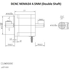 damencnc com stappenmotoren stepper motor dcnc nema34 4 5nm double shaft