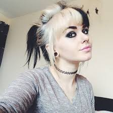 trendy and tasteful two tone hairstyle
