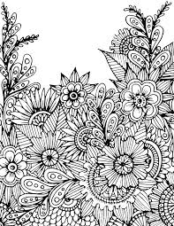 Advanced Flower Coloring Pages Advanced Flower Coloring Pages