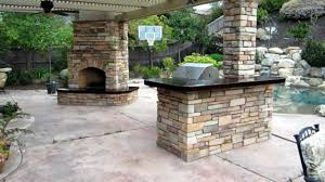 eldorado hills outdoor kitchen with fireplace and awning by gpt construction masonry and design