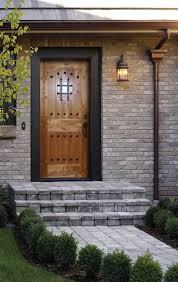 entryway with knotty birch exterior door