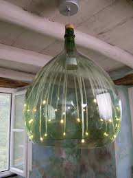 Wine Bottle Light Fixture Beautiful Pendant Light Created From Old Wine Bottle The Brian