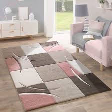 modern grey pink rug pastel pale soft checd bedroom carpet small extra large