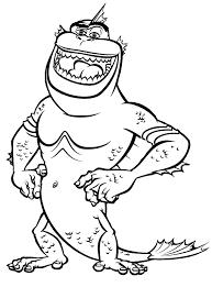 Kleurplaat Monster Hagedissenman Kleurplaatjecom