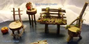 furniture fairy. Finished Fairy Garden Furniture Karen Sloan 22