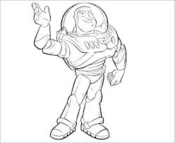 Buzz Lightyear Color Pages Free Printable Disney Coloring Book Light