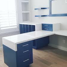 custom built office furniture. custom painted office furniture blue built