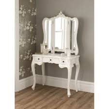rustic modern dressing tables with mirror in white with