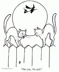 Small Picture Beautiful Halloween Black Cat Coloring Page Images Printable