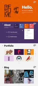 Resume Creative Cv Wordpress Theme Teslathemes